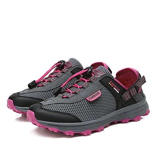 Gomnear Donna Trekking Scarpe Da Passeggio Antiscivolo Estate Leggero Casual Sneakers Outdoor Grigio Scuro