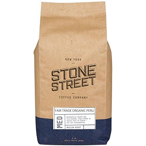 100% FAIR TRADE ORGANIC PERU | Whole Bean Coffee | 5 Lb Bulk Bag | Medium Roast | Premium Quality Peruvian by Stone Street Coffee
