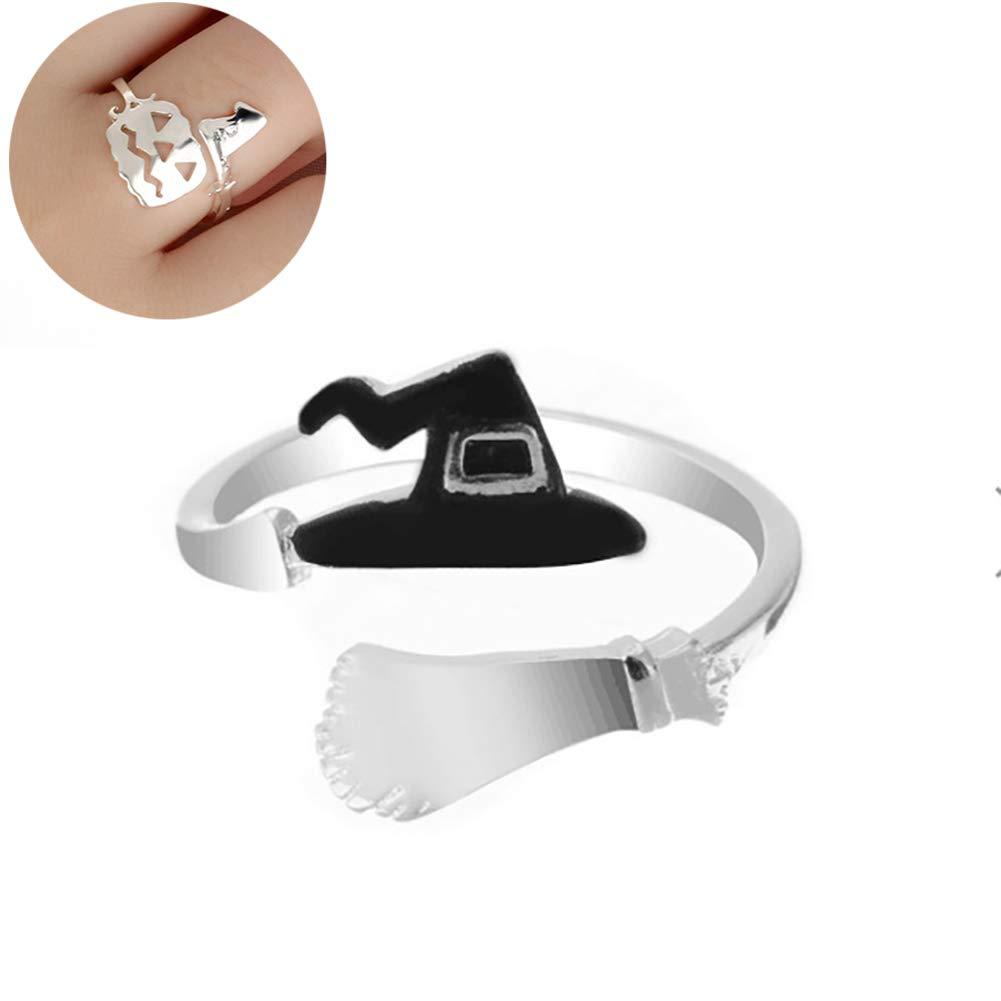 Adjustable Alloy Halloween Women Pumpkin Design Finger Ring Jewelry Ring