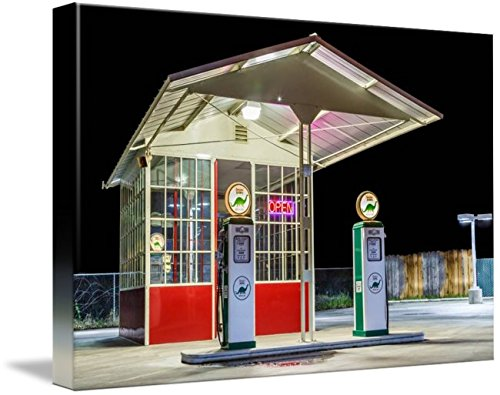 Wall Art Print entitled Late Night Gas Station by James Eddy