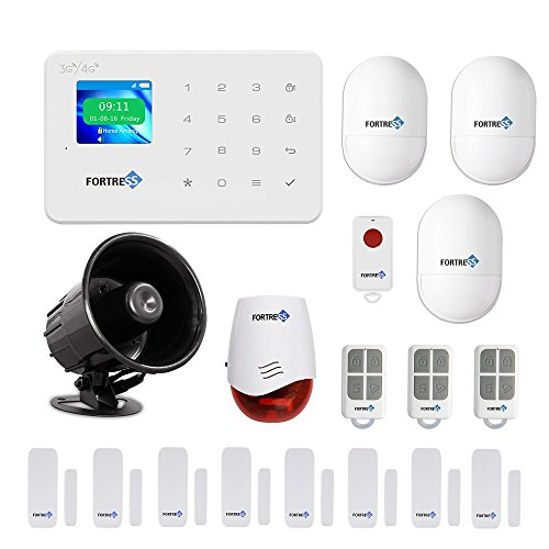 GSM 3G/4G Security Alarm System- VEA Deluxe Wireless DIY Home and Business Security System Kit by Fortress Security Store- Easy to install Security Alarm System