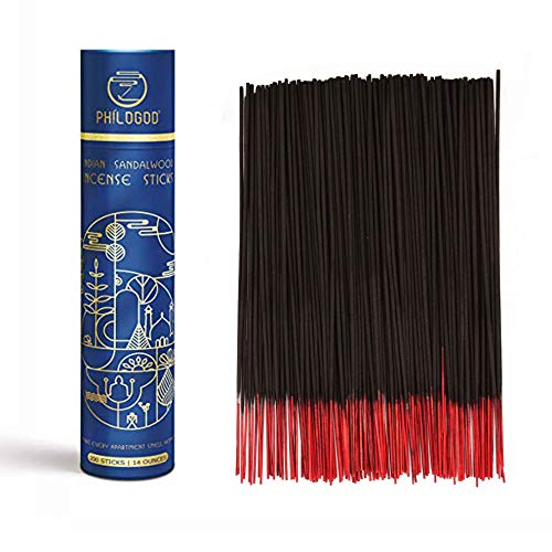 (PHILOGOD Premium Indian Incense Sticks Hand Rolled 100% Natural with Intense Long Lasting Fragrance for Yoga Meditation Pack of 200 Sticks (Advanced))