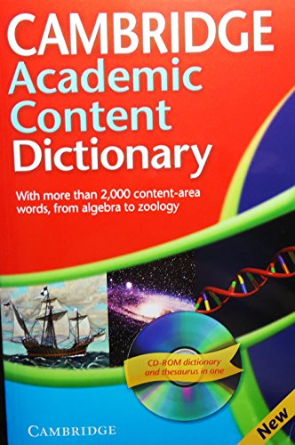 Cambridge Academic Content Dictionary Paperback with CD-ROM (Dictionary & CD Rom)