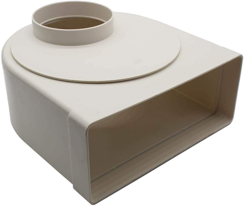 KAIR System 220 - Codo de 90 grados, rectangular, 220 x 90 mm, conducto plano a tubo de 100 mm, redondo: Amazon.es: Bricolaje y herramientas