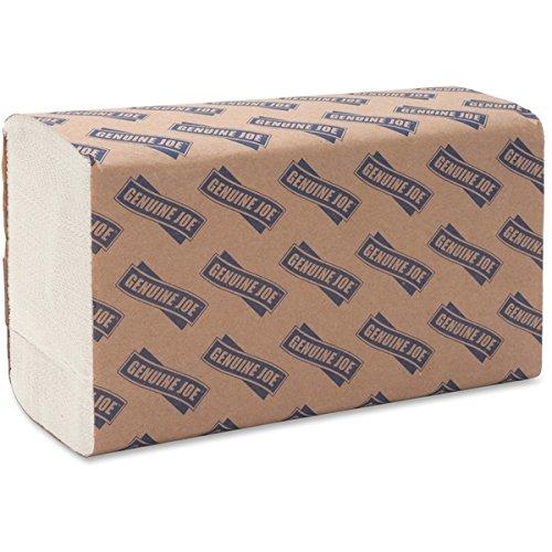 Genuine Joe GJO21100 Multifold Towels, 9.5'' x 9.10'', 64 Clips of 250 Sheets