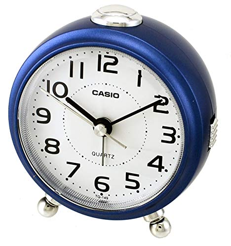 Casio TQ-149-2D White Dial Easy Reader Table Top Travel Alarm Clock