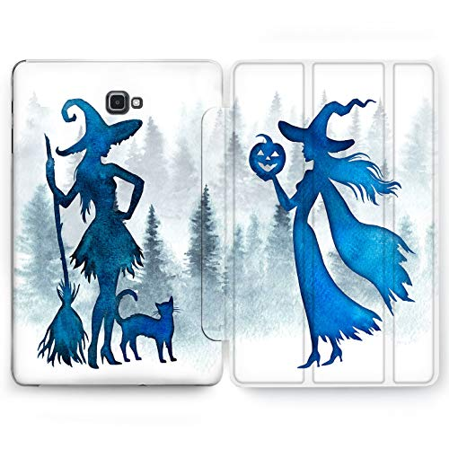 (Wonder Wild Cute Witch Samsung Galaxy Tab S4 S2 S3 A Smart Stand Case 2015 2016 2017 2018 Tablet Cover 8 9.6 9.7 10 10.1 10.5 Inch Clear Design Halloween)