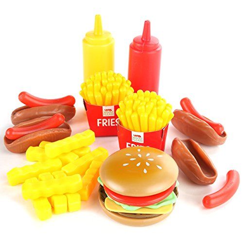c21cf6bfb348 Play Food Set for Kids   Toy Food for Pretend Play - Huge 125 - Import It  All