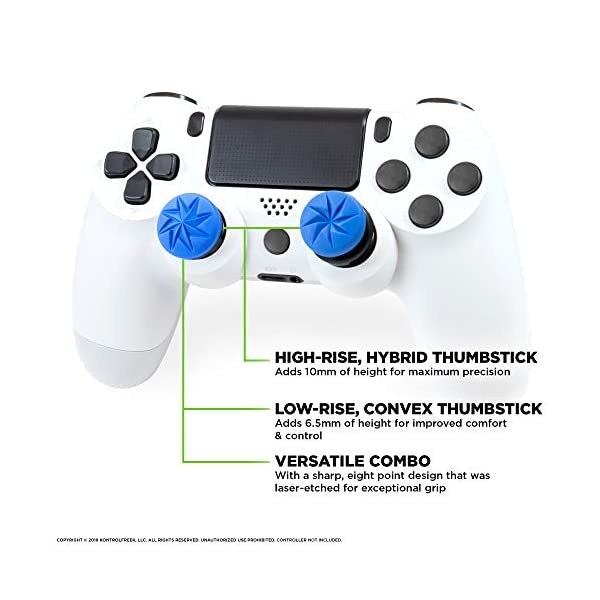 KontrolFreek FPS Freek Edge for PlayStation 4 (PS4) Controller | Performance Thumbsticks | 1 High-Rise Convex, 1 Low… 2