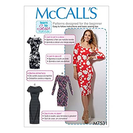 Amazon.com: McCalls Ladies Easy Learn to Sew Sewing Pattern 7531 ...
