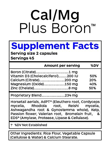 Professional Botanicals Cal/Mg + Boron - Vegan Formulated to Support Bone Health and Healthy Skin, Teeth and Nails Calcium Magnesium and Boron 90 Vegetarian Capsules by Professional Botanicals (Image #2)
