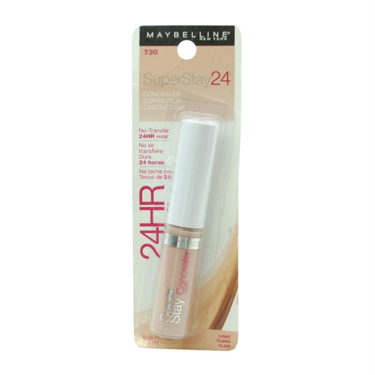 (Pack 2) Maybelline New York Super Stay 24Hr Concealer, Light 730, 0.18 Fluid Ounce
