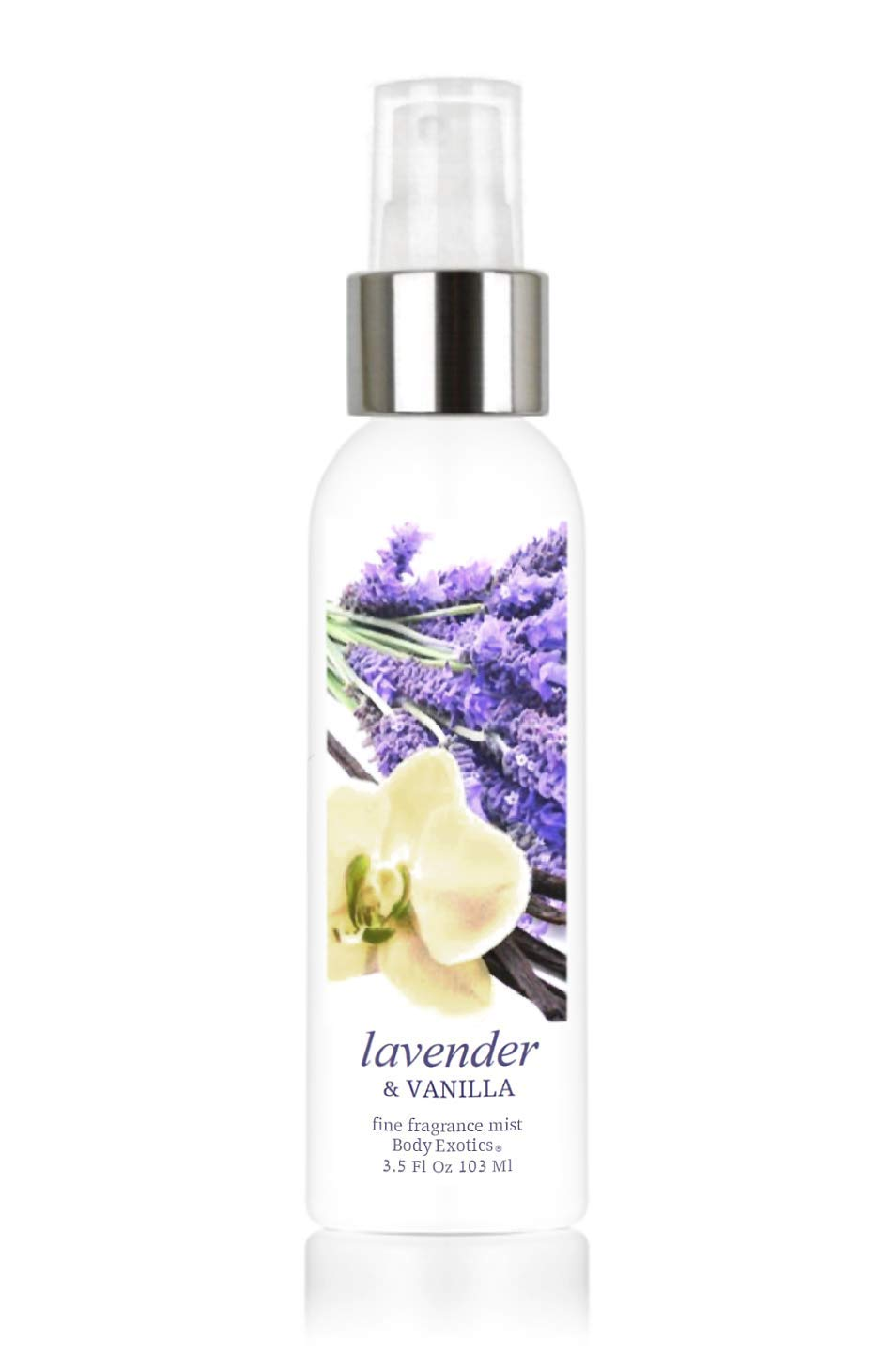 "Lavender & Vanilla Perfume Voted""Simply Heavenly"" Fine Fragrance Cologne Mist by Body Exotics 3.5 Fl Oz 103 Ml ~ a Lush Blend of French Lavender and Creamy Vanilla"