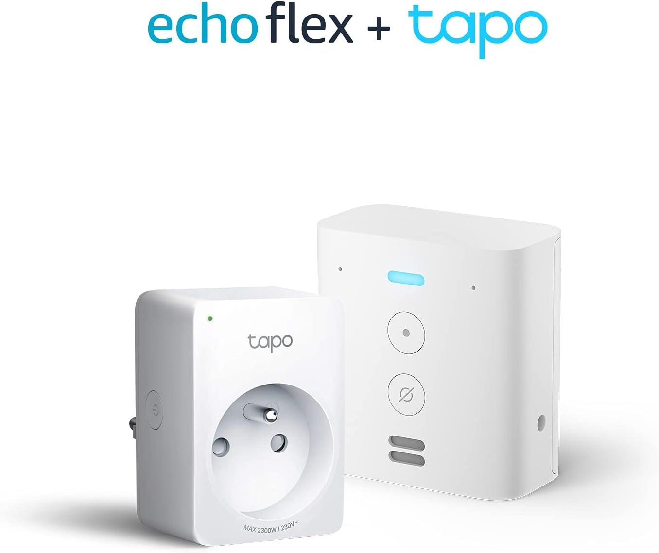 Echo Flex + TP-Link Tapo P100 Smart Plug (Prise connectée WiFi), Fonctionne...