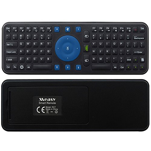 Black Computer RC7 2.4G USB Wireless Keyboard Gyroscope Air Fly Mouse for Mini PC Android TV Box +Highly Recommended