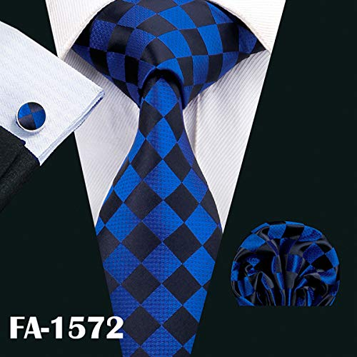 Tie Designer Ties For Men 20 Styles Blue Fashion Silk Neckties Hanky Cufflinks Set For Men Wedding Party Tie Set BL-01