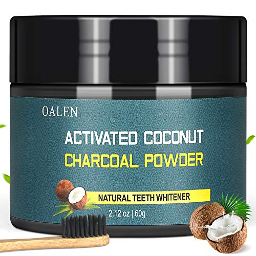 Activated Charcoal Natural Teeth Whitening Powder(60g) by Bestidy,Teeth Whitening Powder with Bamboo Brush Efficient Alternative to Charcoal Toothpaste, Strips, Kits, Gels Easy Cleaning No Hurt on Ena (Bamboo Charcoal Toothpaste)