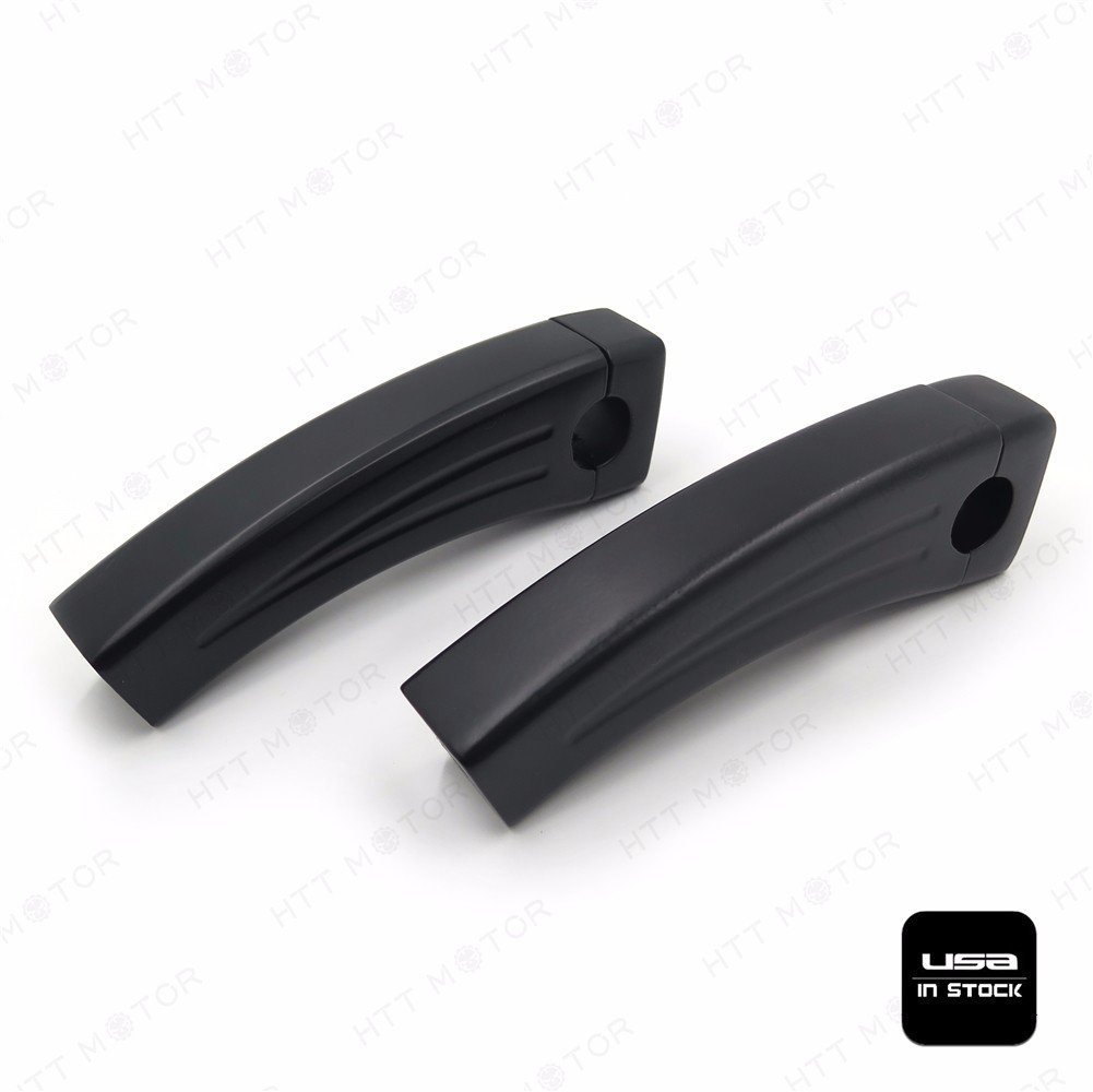 HTTMT XH6014-003-1-5.5 Black Motorcycle Handlebar Pullback Risers Compatible with Universal Bikes 1 Bar