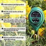 Soil Tester 3-in-1 Moisture Light PH Multifunctional Soil Acidity Test Kit, Best Probe Tester for...