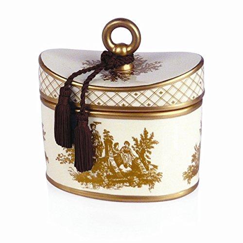 Toile Ceramic (Seda France Classic Toile 2-Wick Candle Ceramic Japanese Quince 22oz)