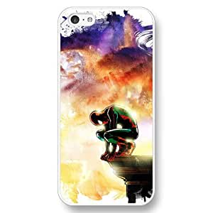 UniqueBox Customized Marvel Series Case for iPhone 5C, Marvel Comic Hero Spider Man Logo iPhone 5c Case, Only Fit for Apple iPhone 5C (White Hard Case)