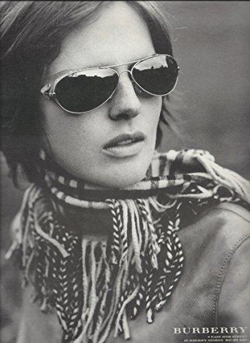 MAGAZINE ADVERTISEMENT For 2010 Burberry Glasses Girl In Scarf - Girls Burberry Sale