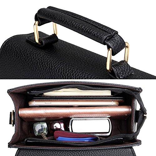 Elegante PU-lederne Handtaschen-Schulter-Beutel-Dame-Beutel-Tote-Geldbeutel, Blau