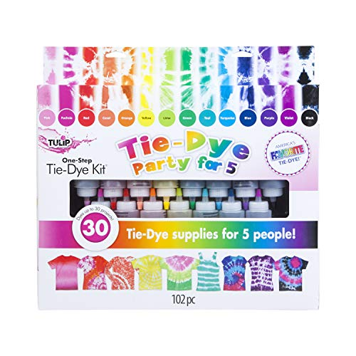 Tulip One-step Tie-Dye One Step Tie-Dye 15-Color Party Kit, Standard, Rainbow