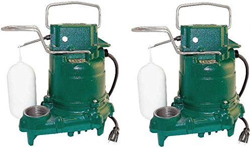 (Zoeller M53 Mighty-mate Submersible Sump Pump, 1/3 Hp (2))