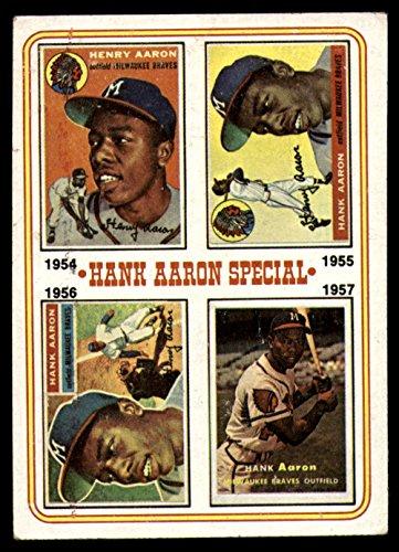 Baseball MLB 1974 Topps #2 Hank Aaron 1954-57 EX Excellent Braves