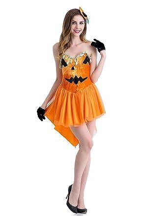 1eb803674ec Amazon.com: Weimisi Women's Pumpkin Tutu Dress Halloween Costume ...