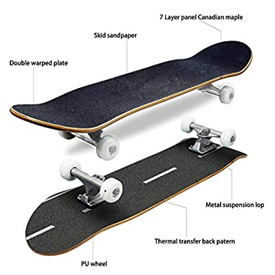 EFTOWEL Skateboards Texture of Asphalt Asphalt Road Stock Pictures Royalty Free Photos Classic Concave Skateboard Cool Stuff Teen Gifts Longboard Extreme Sports for Beginners and Professionals : Sports & Outdoors