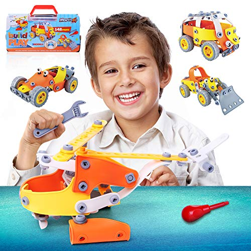 Magnifeko Building Set for Kids -Stem Educational Toy for Boys & Girls for Ages 7 8 9 10+ Years Old - Engineering Vehicles Set