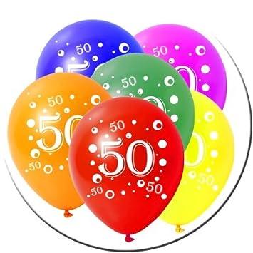 10 Latexballons Geburtstag Zahl 50 Bunt Gemischt 30cm Durchmesser