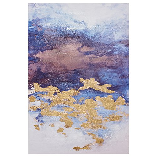 Abstract Clouds with Gold Leaf Accent on Canvas, 24