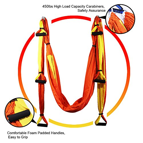 EuroSports High Load Capacity Aerial Yoga Swing/ Inversion/ Hammock/ Sling For Flying Antigravity With a Carrying Bag,Build Your Body Confidence in 2018