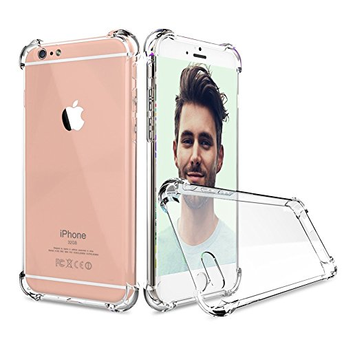 Price comparison product image iPhone 6S Case, iPhone 6 Case, UTHMNE Crystal Clear Shock Absorption Technology Bumper Soft TPU Cover Case for iPhone 6 / 6s - Clear
