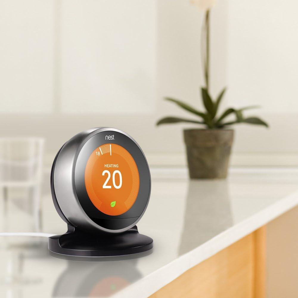 Generation NUR von HOLACA Schwarz Tischhalterung f/ür Nest Thermostat 3