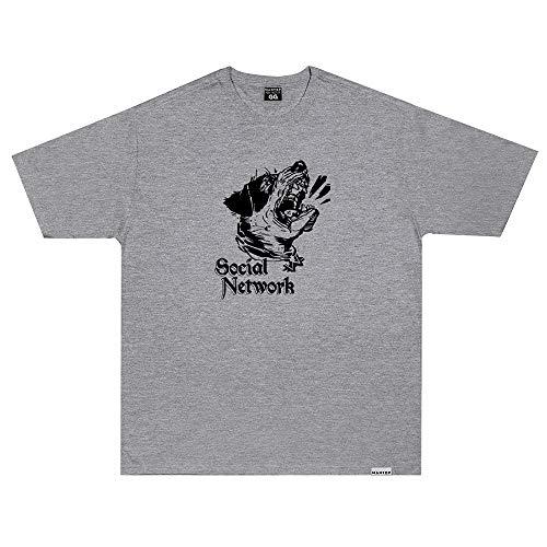 Camiseta Wanted - Social Network Cinza Cor:Cinza;Tamanho:GG