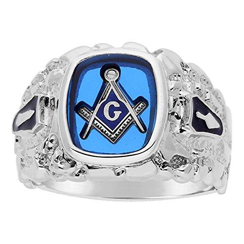 I.B.G. Sterling Silver Masonic Blue Lodge Ring -