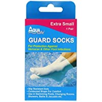 Aqua Safe Guard Swimming Verucca Socks - Beige, Medium
