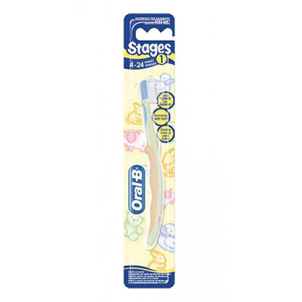 Oral-B Cepillo de Dientes Infantil Stages 1: Amazon.es: Salud y cuidado personal