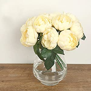 Eforstore 1 Bouquet Artificial Peony Silk Flower Home Wedding Party Decor 7