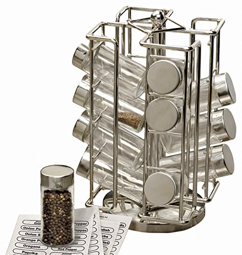 Spice Rack Revolving Chrome 11