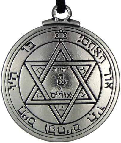 Pentacle of Mars Talisman Key of Solomon Seal Pendant Hermetic Enochian Kabbalah Pagan Wiccan Jewelry