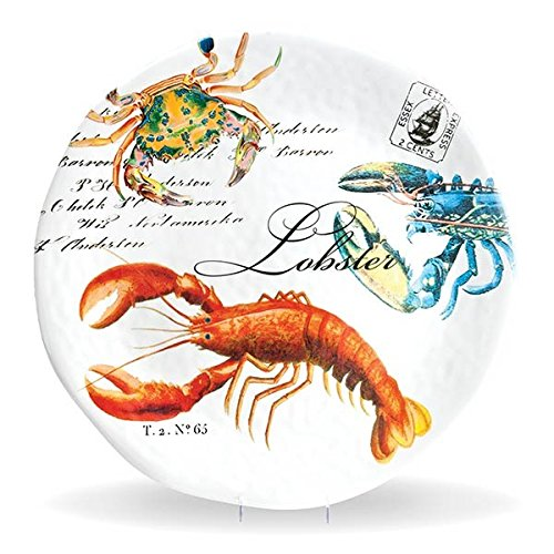 Michel Design Works Melamine Round Serving Platter, Lobster, Large