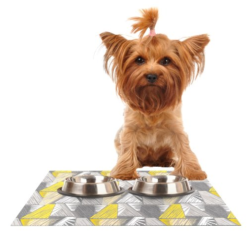 KESS InHouse Gill Eggleston Linford  Feeding Mat for Pet Bowl, 24 by 15-Inch
