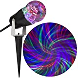 Gemmy Comet Spiral Multi-Function Orange/Purple/Green Led Multi-Design Halloween Outdoor Stake Light Projector