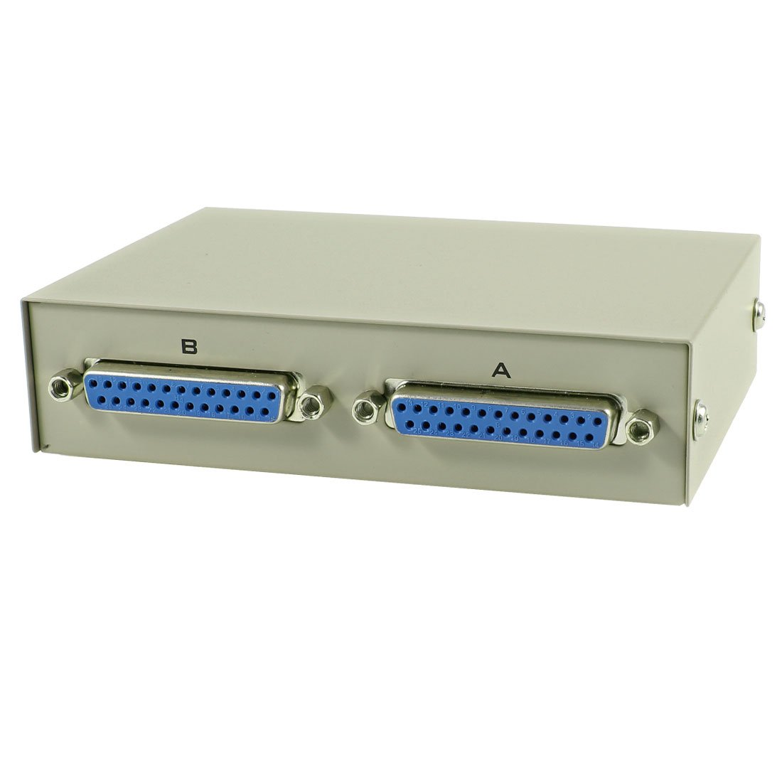 uxcell 2 Port 25 Pin DB-25 Manual Parallel Printer Sharing Switch Box