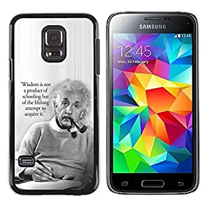 Paccase / SLIM PC / Aliminium Casa Carcasa Funda Case Cover para - Einstein albert science quote smart man - Samsung Galaxy S5 Mini, SM-G800, NOT S5 REGULAR!